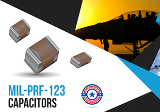 Component manufacturer qualified to produce MIL-PRF-123 capacitors
