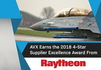 AVX receives four star supplier excellence award from Raytheon