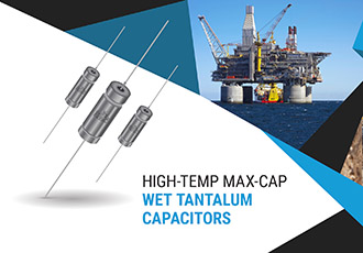 Maximum temperature of wet tantalum supercapacitors increased