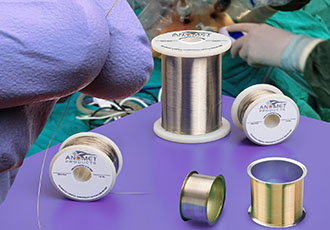 Composite medical wire: biocompatible and kink-resistant