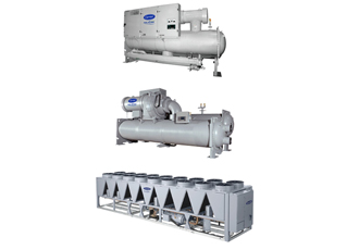 Chillers with lower global warming refrigerant solutions