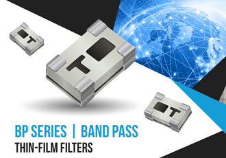 High frequency integrated thin film band-pass filters introduced