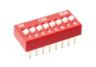 Standard-profile DIP switch offers reliable operation in all applications