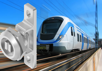 Stainless steel railway catch confidently locks