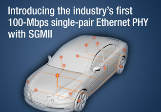 Automotive application designs simplified with robust Ethernet