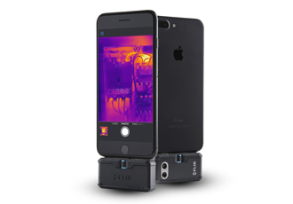 Low-cost thermal imaging camera for smartphones and tablets