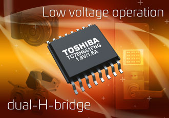 H-bridge motor drive IC supports low voltage and high current drive