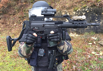 Modular rifle stock allows officers to aim in all firing positions