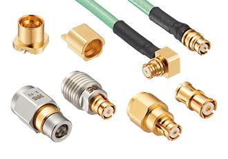Miniature coaxial connector offering with 40Ghz SMP interface