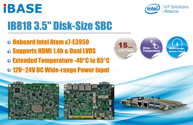 Intel Atom x7-E3950 SBC supports extended temperatures