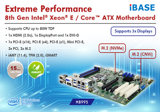 8th Gen Intel Xeon E / Core based MB995 ATX Motherboard