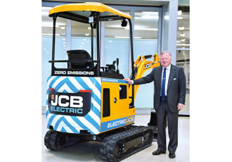 JCB digs up the first ever electric digger
