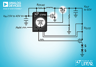 Synchronous boost LED controller with 60V output