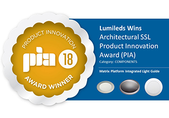 Product Innovation Award for Integrated Light Guides won