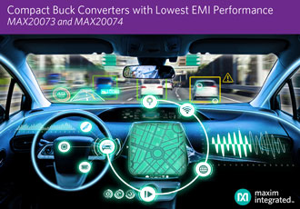 Synchronous buck converters provide low EMI performance