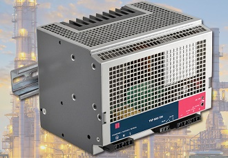 Rugged DIN-Rail power supplies are shock and vibration proof