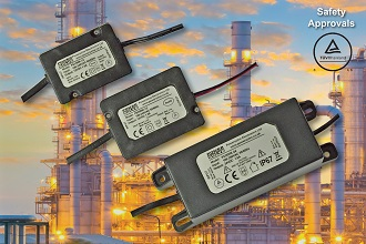 Encapsulated 36W AC-DC converters protect to IP67