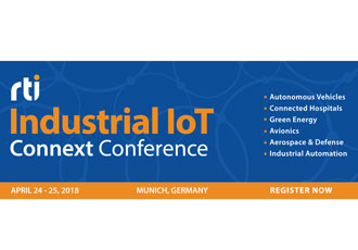 Calling all power DDS users to the Industrial IoT Connext Conference