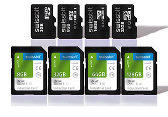 High-performance industrial SD and microSD memory cards