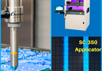 Select spray applicator for conformal coating applications