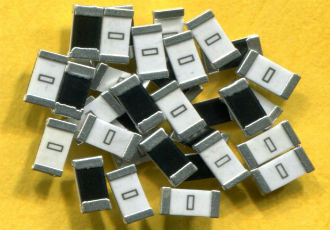 SMD high current jumpers in sizes from 0402 to 2512