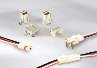 Wire-to-board connectors designed for outdoor lighting applications