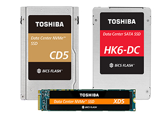 SSDs feature BiCS FLASH 64-layer 3D flash memory