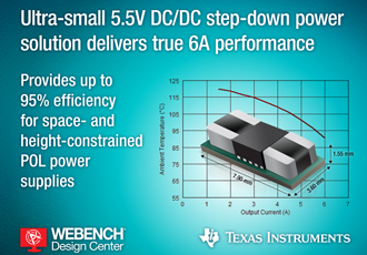 DC/DC step-down power module delivers 6A performance