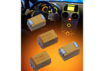 New case size and codes added to automotive-grade capacitors