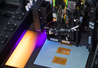 Precision additive manufacturing of printed electronics
