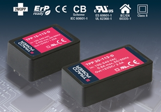 Ultra Compact 15 & 30 Watt Encapsulated PCB-Mount Power Supplies