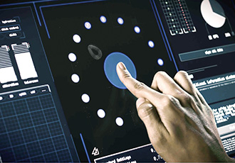 Industrial touchscreen with force detection