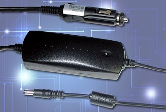 DC/DC car adaptor provides up to 60W