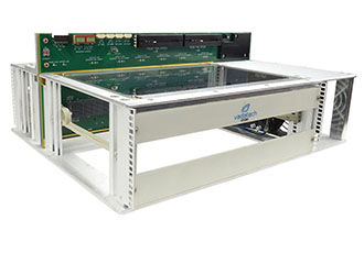 One slot 6U VPX benchtop development chassis with RTM