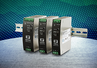 Ultra slim, low cost DIN rail power supplies