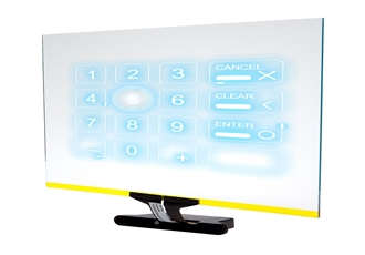 Secure PIN entry through large format touch screens