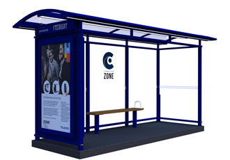 Smart bus stop designed to improve safety in public places
