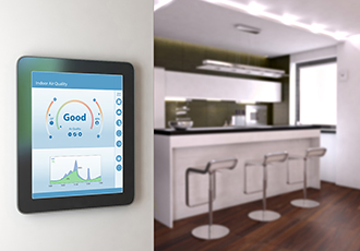 Gas sensor module for kitchens