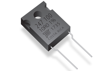 Fixed resistors feature advanced thick film on ceramic technology