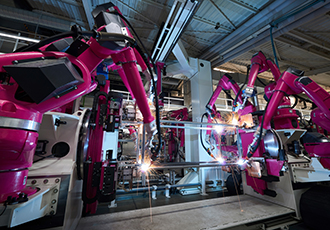 Dancing robots at Rittal's German manufacturing plant
