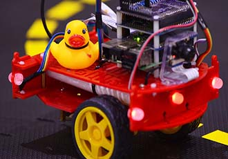 Self-driving vehicle course is quackers