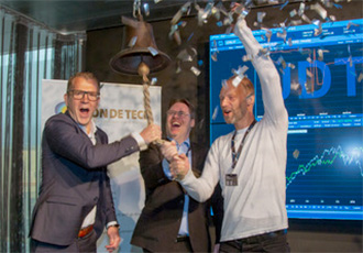 Swedish sensor developer rings opening bell for Nasdaq Stockholm