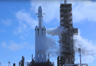 Elon Musk's giant SpaceX rocket has lift off