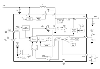 Full integrated sync boost converter with load disconnect
