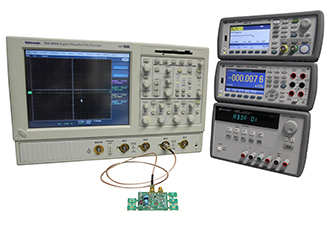 Evaluation board enables fast testing for standard oscillators