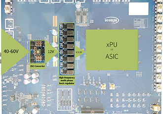 High-efficiency, two-stage architecture power distribution