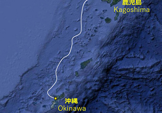 Submarine cable system connecting Okinawa and Kagoshima Prefecture