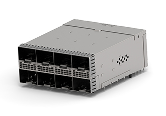 Connectors support data rates up to 28Gbps NRZ