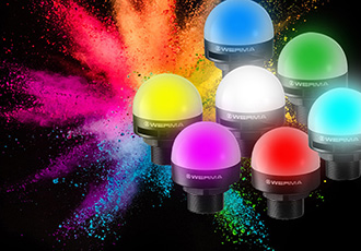 Multicolour LED installation beacons available