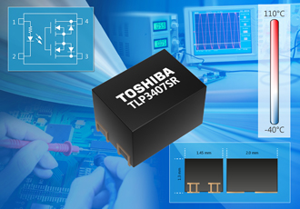 Voltage drive photorelay features tiny 2.9mm2 footprint